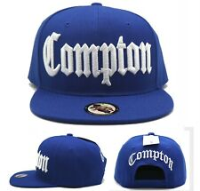 Compton New Leader Headlines Old English Banner Blue White Snapback Era Hat Cap
