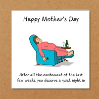 Lockdown Mothers Day Card - Self Isolation / Quarantine / mum / mother / mom