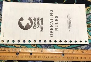 1980 Chessie System Railroad Orig Operating Rules Booklet Stapled #PW332