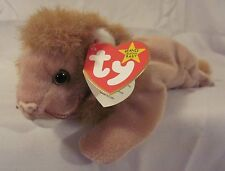 """Ty Beanie Baby """"ROARY"""" -  5th swing tag with spelling errors, 5th tush tag 1996"""