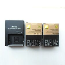Two EN-EL14a Battery & MH-24 Charger For Nikon D5300 P7800 Df 1230mAh New