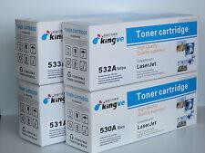 5PK Compatible Toner for HP CC530A 531A 532A 533A fits CM2320 CP2025 1 set+ 1 BK