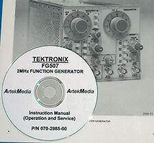 Tektronix Fg507 Fg 507 Operating Amp Service Manual