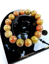 Bracelet en Unakite Lithothérapie Bijoux Minéral pour Femme en Pierre Naturelle