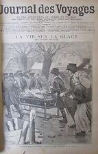 JOURNAL DES VOYAGES ALLEMAGNE CONVOIS FUNERAIRES SUR GLACE  N° 974 de 1896