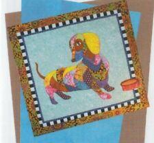 Dagwood - fun dachshund dog applique & pieced wall quilt PATTERN