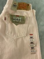 NWT $79 Levi's 501 '93 Straight Button Fly Jeans PINK Mens 34 x 30 100% Cotton