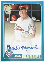 2020 Topps Archives Fan Favorites On-Card AUTO Charlie Manuel SP Phillies