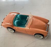 Vintage 1960's Mattel Barbie Doll Convertible Austin Healy  Sports Car