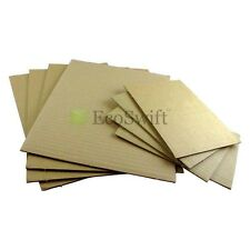"100 11x14 Corrugated Cardboard Pads Inserts Sheet 32 ECT 1/8"" Thick 11"" x 14"""