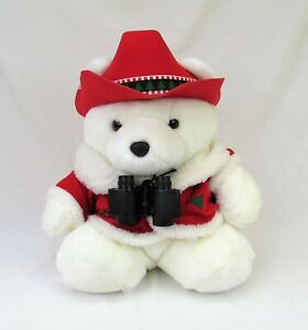 Santa Bear 1995 mr conservation Dayton Hudson Christmas plush binoculars
