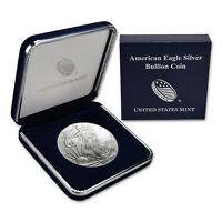 2010 $1 American Silver Eagle BU In US Mint Gift Box