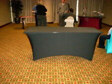 "8'x30"" Black Spandex Buffet Table Cover,wedding,reception,party,event,church,DJ"