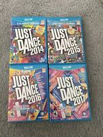Nintendo Wii U Game Lot Of 4 Just Dance 2014 2015 2016 2017 Complete Tested