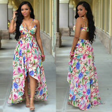 Women's Summer Long Maxi Dress Chiffon Skirt Slip dress Beach Dresses US Stock