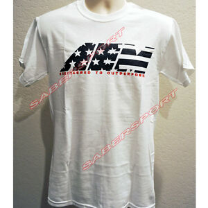"""""""IN STOCK"""" AUTHENTIC AEM APPAREL STAR AND STRIPES T-SHIRT WHITE - SIZE- SMALL"""