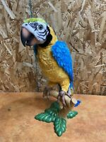 Squawkers McCaw Talking Parrot Bird w Perch Only FurReal Friends WORKS 77182