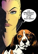 Eva Kant e Diabolik contro abbandonano animali 2/3 Disegno di Sergio Zaniboni