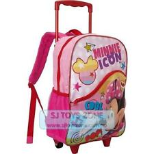 Disney Minnie Mouse Backpack School Luggage Rolling Bag Pink for Kids