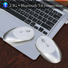 Rechargeable Wireless Mini Bluetooth 5.0 1600DPI Optical Gaming Mouse Mice PC
