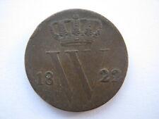 Netherlands 1822 1/2 Cent F