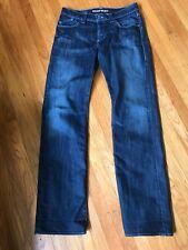 ROCK & REPUBLIC Dark Jeans Leather on Pockets Logo Sz 34