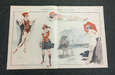 ORIGINAL La Vie Parisienne Illustration: Swimwear, Golf, Beaches, Sea (Leonnec)