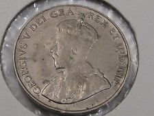 1924 Canadian Five cent Nickel coin. 5c. Canada. Better Grade- Full Crown. #25