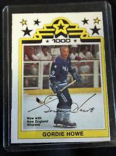 1977-78 O-Pee-Chee WHA #1 Gordie Howe - NM