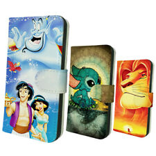 Stitch Aladdin Jasmine Lion King Simba Card Slot Flip Wallet Cover Phone Case