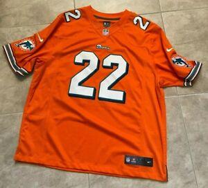 Nike Miami Dolphins Reggie Bush #22 Orange Men's Jersey XXL Extra Extra Large
