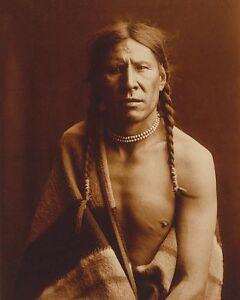 EDWARD S. CURTIS NATIVE AMERICAN PORTRAIT 8x10 SILVER HALIDE PHOTO PRINT