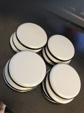Furniture Floor Sliders set of 12 x 50mm Round Self Adhesive Teflon Glides