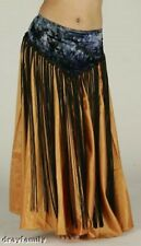 BLACK TIE DYE, LONG FRINGE BELT. MEDIUM ADJUSTABLE BELLY DANCE