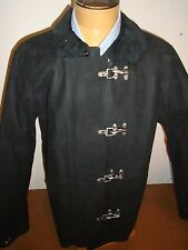 Polo Ralph Lauren Suede Leather Goshen Fireman Coat Jacket NWT Small $1995 Black