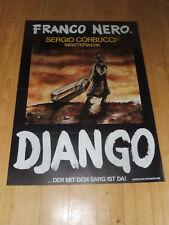 DJANGO - Kinoplakat A1 WA ´75 - FRANCO NERO Sergio Corbucci ITALO WESTERN