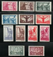 Romania 1945 MNH Mi 885-896 Sc B292-B303 white paper Armistice with Russia **
