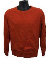 Polo Ralph Lauren Sweatshirt Men's Size Large Orange Thermal Waffle Lined