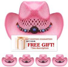 Western COWBOY HAT PINK Cap Cowgirl Cap MEN WOMEN CHRISTMAS GIFT