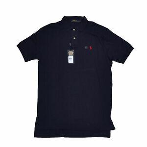 Polo Ralph Lauren Mens Polo Shirt Interlock Knit S Navy Blue Casual Damaged New