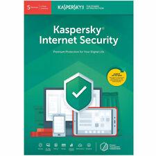 Kaspersky Internet Security 2020 5 Devices, 1 Year Anti Virus New Sealed UK