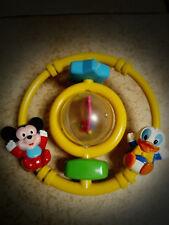 jouet d'éveil vintage DISNEY malaysia1985- hochet anneau figurine mickey donald