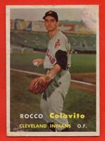 1957 Topps #212 Rocky Colavito VG MARKED ROOKIE RC Cleveland Indians FREE SHIP