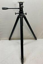 Leitz Tiltall #4602 Professional Camera 6 Foot Tripod with Triple Head, fair