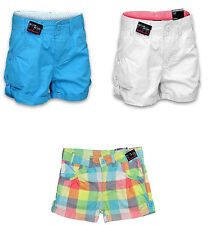 NEW GIRLS COTTON SUMMER SHORTS KIDS 3/4 PANTS SIZES AGE 8 9 10 11 12 13 14 15 16
