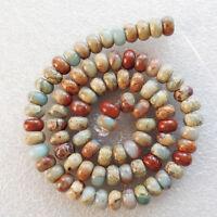 Incomparable 8x5mm Snake Skin Jasper Rondelle loose bead 15.5 inch E0043376