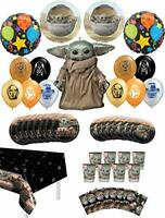 Star Wars Mandalorian The Child Birthday Party Supplies 8 Guest Baby Yoda Tab...