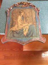 ORIG EARLY ALICE BLUE GOWN NY PRINT PIE CRUST FRAME HAND MADE FLORAL BEAUTY