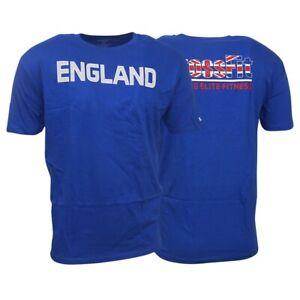 "Reebok CrossFit Men's Blue Forging Elite Fitness ""ENGLAND"" Flag Flagpax T-Shirt"