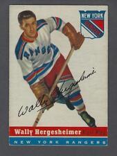 1954-55 Topps New York Rangers Hockey Card #22 Wally Hergesheimer